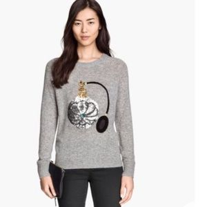 H&M Sequinned Perfume Bottle Sweater